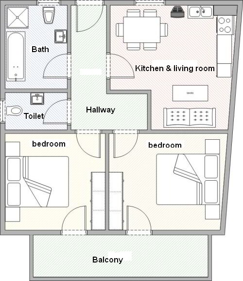floor plan appratment Walnut tree